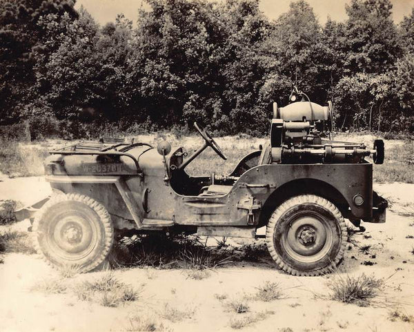 Iconic WWII American Military Army Jeep Vintage 8x10 Snapshot Photo