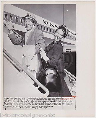 BING CROSBY SINGER MOVIE ACTOR VINTAGE PAN AMERICAN AIRWAYS AIRLINE PROMO PHOTO - K-townConsignments