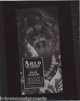 ARLO GUTHRIE PETE SEEGER VINTAGE NEW YORK MUSIC CONCERT POSTER PHOTO NEGATIVE - K-townConsignments