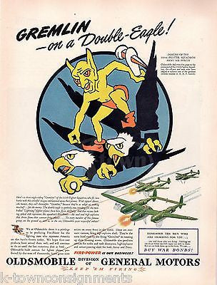 339th FIGHTER SQUADRON INSIGNIA VINTAGE WWII AVIATION GRAPHIC ADVERTISING PRINT - K-townConsignments