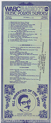 ROD STEWART CHUCK LEONARD WABC RADIO MUSIC POWER SURVEY CERTS PROMO FLYER - K-townConsignments