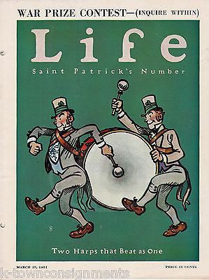 ST PATRICKS DAY PARADE ISSUE COVER ART GRAPHIC ILLUSTRATED LIFE MAGAZINE 1924 - K-townConsignments
