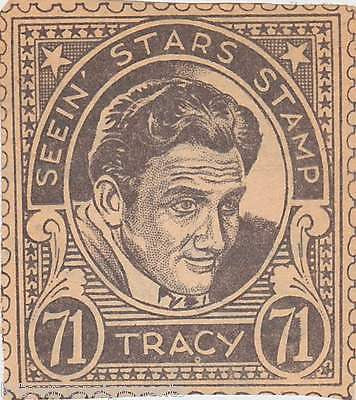 SPENCER TRACY MOVIE ACTOR VINTAGE SEEIN STARS STAMP GRAPHIC PROMO CLIPPING - K-townConsignments