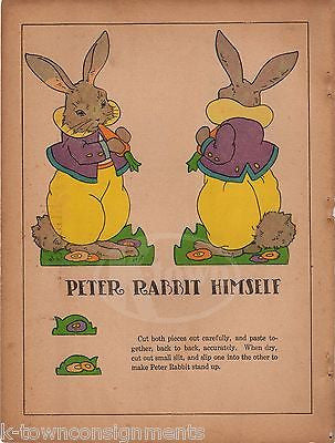 PETER THE RABBIT KIDS FAIRY TALES ANTIQUE GRAPHIC ILLUSTRATION POSTER PRINT - K-townConsignments