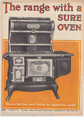 SEARS ROEBUCK WOOD FIRE OVEN RANGES WEHRLE Co ANTIQUE GRAPHIC ADVERTISING PRINT - K-townConsignments