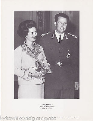 Baudouin King of the Belgians Vintage Portrait Gallery Poster Photo Print - K-townConsignments