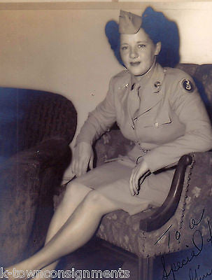 GINGER 3rd ARMY AIR FORCE WOMAN IN UNIFORM VINTAGE WWII AUTOGRAPH SIGNED PHOTO - K-townConsignments