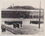 WWII YOKOHAMA NAVAL BASE VINTAGE INSPECTION BY COMMANDER LUCKING SNAPSHOT PHOTO - K-townConsignments