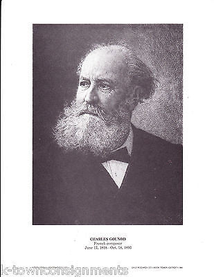 Charles Gounod French Composer Vintage Portrait Gallery Poster Print - K-townConsignments