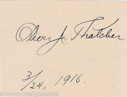 OLIVER THATCHER AUTHOR OF MEDIEVAL HISTORY BOOKS VINTAGE AUTOGRAPH SIGNATURE - K-townConsignments