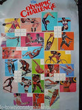 1984 OLYMPIC CHALLENGE ORIGINAL VINTAGE USPS STAMP COLLECTION ADVERTISING POSTER - K-townConsignments
