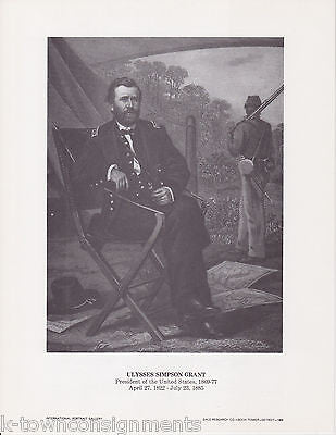 Ulysses S Grant General President Vintage Portrait Gallery Artistic Poster Print - K-townConsignments