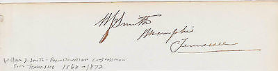 Wm JAY SMITH CIVIL WAR BRIG. GENERAL & TENNESSEE CONGRESSMAN AUTOGRAPH SIGNATURE - K-townConsignments