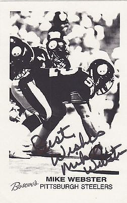 IRON MIKE WEBSTER STEELERS NFL FOOTBALL PLAYER AUTOGRAPH SIGNED PHOTO CARD PRINT - K-townConsignments