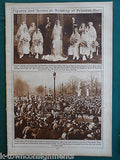 PRINCESS MARY & PRINCE OF WHALES ROYALTY VINTAGE 1920s NEWS PHOTO POSTER PRINT - K-townConsignments