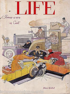 BAD WOMEN DRIVERS PATTERSON COVER ART GRAPHIC ILLUSTRATED LIFE MAGAZINE 1929 - K-townConsignments
