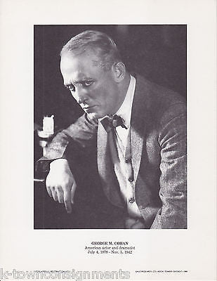 George M. Cohan Actor Dramatist Vintage Portrait Gallery Poster Photo Print - K-townConsignments
