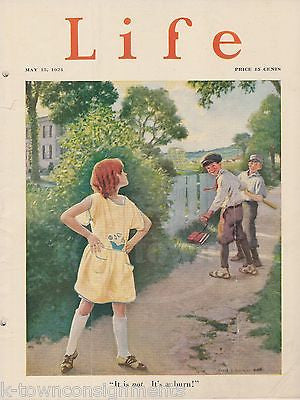 REDHEAD GINGER LITTLE GIRL ANDERSON COVER GRAPHIC ILLUSTRATED LIFE MAGAZINE 1924 - K-townConsignments