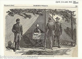 W.T. SHERMAN CIVIL WAR GENERAL ANTIQUE ENGRAVING SKETCH 1864 - K-townConsignments