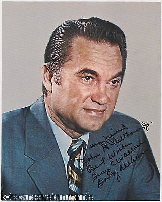 GEORGE WALLACE ALABAMA GOVERNOR SEGREGATION VINTAGE AUTOGRAPH SIGNED PROMO PHOTO - K-townConsignments
