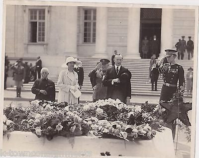 Calvin Coolidge 1st Lady Grace Military Memorial Scene Antique News Press Photo - K-townConsignments