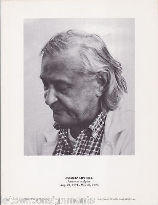Jacques Lipchitz American Sculptor Vintage Portrait Gallery Photo Print - K-townConsignments