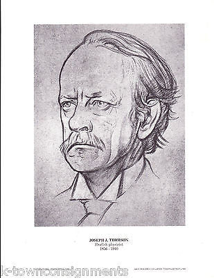 Joseph J. Thomson English Physicist Vintage Portrait Gallery Poster Print - K-townConsignments