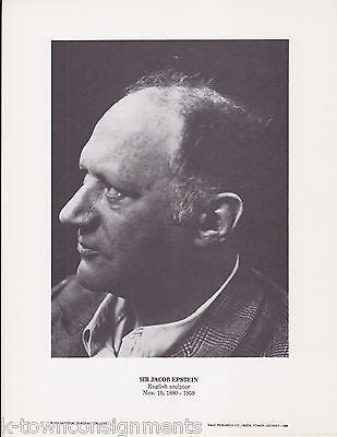 Sir Jacob Epstein British Sculptor Vintage Portrait Gallery Photo Print - K-townConsignments