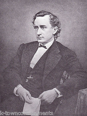 Edwin Booth American Actor Leader Vintage Portrait Gallery Poster Print - K-townConsignments