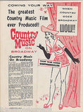 HANK SNOW NORMA JEAN HANK WILLIAMS COUNTRY MUSIC 1960s NEW YORK CONCERT PROGRAM - K-townConsignments