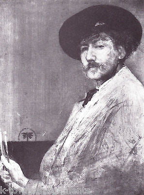 James Abbott McNeill Whistler Painter Vintage Portrait Gallery Poster Print - K-townConsignments