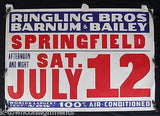 RINGLING BROS BARNUM & BAILEY CIRCUS AIR CONDITIONED! GRAPHIC CIRCUS POSTER 1936 - K-townConsignments