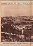 JERUSALEM & PALESTINE ISRAELI HOLY LAND ANTIQUE 1920s NEWS PHOTO POSTER PRINT - K-townConsignments