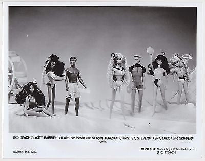 BEACH BARBIE KEN STEVEN MIKO MATTEL TOYS VINTAGE ADVERTISING PUBLICITY PHOTO - K-townConsignments