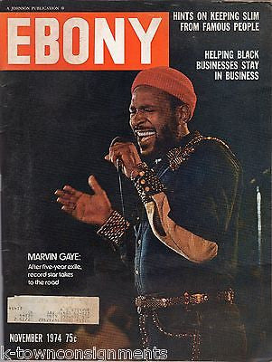 MARVIN GAYE AFRICAN AMERICAN MUSIC & McDONALDS AD VINTAGE 1970s EBONY MAGAZINE - K-townConsignments
