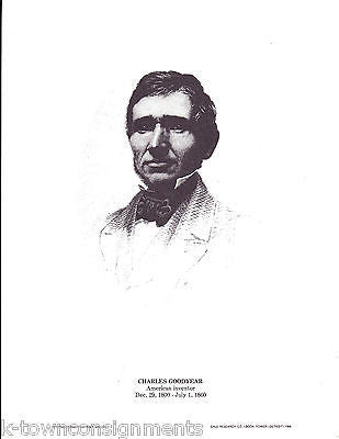 Charles Goodyear American Inventor Vintage Portrait Gallery Poster Print - K-townConsignments