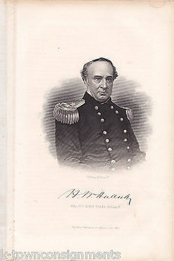 CIVIL WAR GENERAL HENRY WAGER HALLECK GEORGE PERINE ANTIQUE ENGRAVING PRINT - K-townConsignments