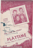 JOHN LODER BRITISH ACTOR VINTAGE AUTOGRAPH SIGNED FOR LOVE OF MONEY PLAYBILL - K-townConsignments