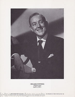Sir Alec Guinness Actor Star Wars Vintage Portrait Gallery Poster Photo Print - K-townConsignments
