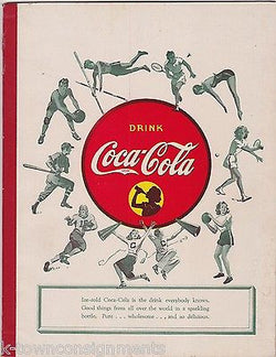 COCA-COLA AMERICAN SPORTS VINTAGE WWII ERA COKE SODA ADVERTISING PROMO NOTEBOOK - K-townConsignments