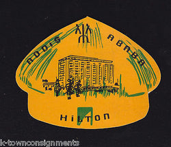 HILTON HOTEL ADDIS ARABA VINTAGE MIDDLE EASTERN GRAPHIC ADVERTISING STICKER - K-townConsignments