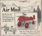 AIR MAIL RACE VINTAGE KIDS TOY TRICYCLE 1927 ADVERTISING POSTER PRINT - K-townConsignments