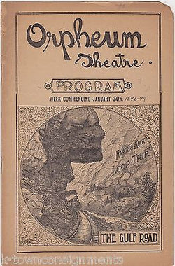 UNCLE TOM'S CABIN ORPHEUM THEATRE PLAY PROGRAM 1896 BLACK AMERICANA ADVERTISING - K-townConsignments