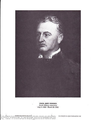 Cecil John Rhodes South African Statesman Vintage Portrait Gallery Poster Print - K-townConsignments