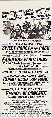COUNT BASIE BAND JAZZ CONCERT BEACH PLUM MUSIC FESTIVAL PROVINCETOWN AD FLYER - K-townConsignments