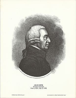 Adam Smith Scottish Economist Vintage Portrait Gallery Poster Print - K-townConsignments