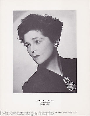 Eva Le Gallienne English Actress Vintage Portrait Gallery Poster Photo Print - K-townConsignments