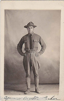 US SOLDIER PERSHING MEXICO PANCHO VILLA EXPEDITION WWI AUTOGRAPH PHOTO POSTCARD - K-townConsignments