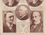 BRITISH POLITICIANS CHURCHILL ASQUITH BALFOUR VINTAGE 1920s PHOTO POSTER PRINT - K-townConsignments