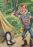 HOWDY DOODY GOES CAMPING W/ A SKUNK VINTAGE 1950s GRAPHIC CARTOON PICTURE PUZZLE - K-townConsignments